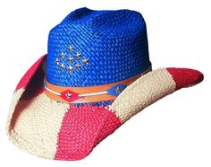 ca2812b67a Bullhide  The Patriot Straw Hat at Cowgirl Blondie s Dumb Blonde Boutique  Western Hats