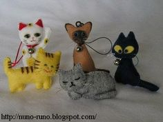 Minicats of felt Patterns for these