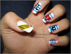 School nail art <3 will be trying it this weekend!