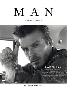 David Beckham stars this classy new cover Man About Town Magazine