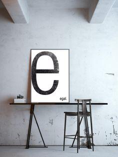 **e - egal**, - Typografie Buchstabe E, Poster in DIN A4 (ohne Rahmen),  Digitaldruck  **Du hast die Wahl wofür das E stehen soll!** Teile mir bitte einfach bei Deiner Bestellung mit, welches...