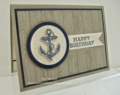 Stampin' Up! UK Demonstrator - Teri Pocock: Guy Greetings - Anchor