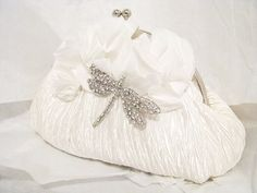 White Bridal Wedding Bag Clutch Formal Wear by weddingswithflair, $55.00