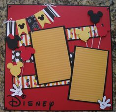 12 x 12 Disney 2Page Scrapbook Layout  by TwoCraftyCreations