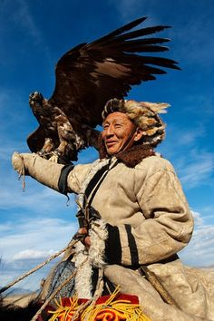 Hunter Kazakhstan , Mongolia  - Photograph by Alison Wright