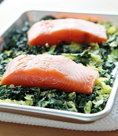 Salmon With Crispy Cabbage and Kale Is a One-Pan Wonder | POPSUGAR Fitness UK