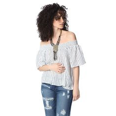 Navy boho off the shoulder top – Fashion Gal Freedom