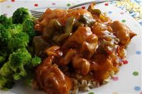 Sweet & Spicy Crockpot Chicken - hubs made this and added some cayenne, shortened the cooking time, but cooking the chicken first and then into the slow cooker on high for 3 hrs. It was great!