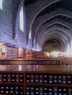 Barcelona - Hospital de Sant Pau - Biblioteca nacional de Catalunya - National Catalan Library in a gorgeous medieval building