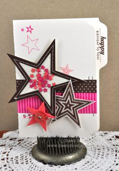 Love the File Folder look for a card...plus the star shaker! Super cute!