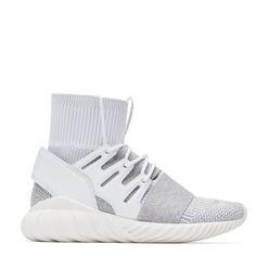 lowest price 38f2d 3b8b6 adidas Originals - White   Grey Tubular Doom PK Sneakers