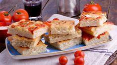 Pan de pizza (Focaccia) - Matteo de Filippo - Receta - Canal Cocina Mozzarella, Sandwiches, Pasta, Recipes, Food, Gastronomia, Bread Recipes, Appetizers, Pizza