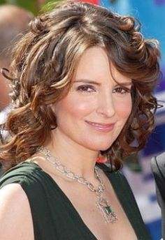 curly hair styles tina fey for garnier nutrisse hair color clipped from 9847