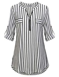 # Casual Outfits with flats gingham shirt JCZHWQU Womens Zip Up V Neck Rolled Sleeve Casual Plaid Tunic Shirt Umgestaltete Shirts, Cool Shirts, Plaid Tunic, Tunic Shirt, Tunic Tops, Shirt Dress, Cool Shirt Designs, Blouse Designs, How To Roll Sleeves