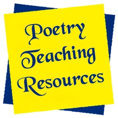 Poetry teaching resources in Laura Candler's online file cabinet - mostly free!