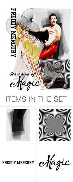 """It's a kind of magic.  Freddy Mercury's voice"" by taniagf ❤ liked on Polyvore featuring art"
