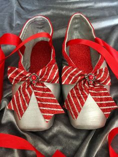 cb08802a387e Decorated / Painted Nutcracker Pointe Shoes - Ribbon Candy, Mother Ginger,  Peppermint