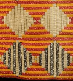 courthouse steps log cabin quilt pattern | Detail, log cabin crib quilt in the Courthouse Steps ... | patch it up