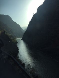 Early morning driving along the magnificent Beas River--almost to Jibhi!