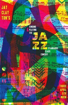 Best Film Posters : Jazz Concert Poster  (2012) digital collage by Kacie Mills MICA student artis