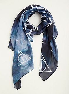 Harry Potter Deathly Hallows Tie Dye Scarf,