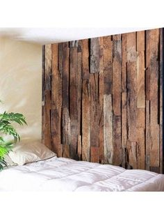 Wall Hanging Art Uneven Wooden Board Print Tapestry (With images) Bohemian Wall Tapestry, Tree Tapestry, Tapestry Nature, Tapestry Beach, Tapestry Bedroom, Bedroom Wall, Bricks For Sale, Wall Waterproofing, Cheap Wall Tapestries