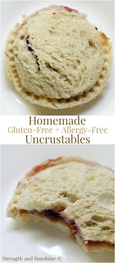 "Homemade Gluten-Free + Allergy-Free Uncrustables (Vegan) | Strength and Sunshine @RebeccaGF666 Just what the little picky eaters want! Homemade Gluten-Free + Allergy-Free Uncrustables! A school-friendly, top food allergy-friendly, vegan, and gluten-free version of the packaged ""PBJ crustless pocket"" sandwich! Make these ahead of time for a quick and easy lunch recipe or snack for the entire school week! #glutenfree #vegan"