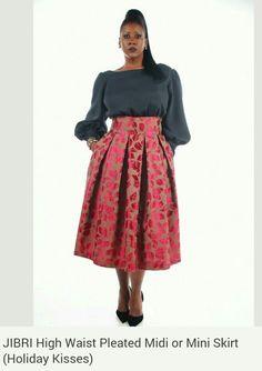 46cfe8fe483 JIBRI Plus Size High Waist Pencil Skirt Blue Matrix door jibrionline. See  more. Love this color combo! Skirt Fashion