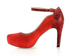 CASSIDY heels with style and comfort for plus size feet! Wardrobe Staples, Designer Shoes, Peep Toe, Product Launch, Platform, Footwear, Wedges, Heels, Red