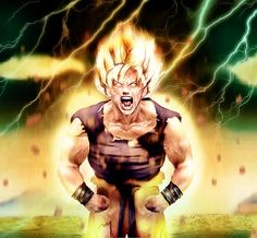 Goku Goes Super Saiyan by Shibuz4.deviantart.com on @DeviantArt