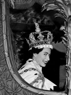 Queen Elizabeth II leaving Westminster Abbey after her coronation, June 1953