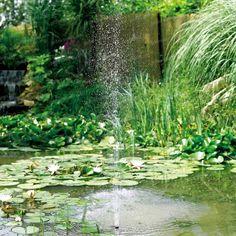 Créez votre espace aquatique dans un bassin, étang ou mare avec notre puissante fontaine à énergie solaire. Cette pompe hydraulique alimentée par...
