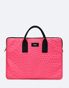 funda-portátil-avestruz-rosa-fucsia-2 Unisex, Pretty In Pink, Kate Spade, Bags, Fashion, Ostriches, Laptop Sleeves, Hot Pink Roses, Briefcases