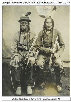 Gros Ventre Warriors (no names), Fort Berthold, 1872