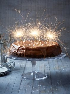 "Tanya Burr's Salted Caramel Cheesecake from ""Tanya Bakes"""