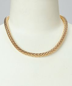 Love this Gold Puff Popcorn Chain Necklace by Sevil Designs on #zulily! #zulilyfinds