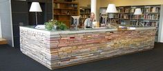 what a cool way to use books!