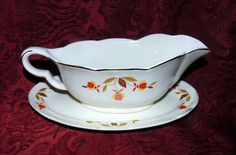 Autumn Leaf  Hall China Jewel Tea Gravy by SimplyMarvelousMary
