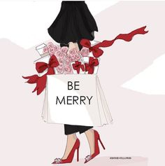 December Be Merry Rose Hill Designs Merry Christmas, Christmas Quotes, Christmas Love, Christmas And New Year, Xmas, Christmas Greetings, Illustration Noel, Christmas Illustration, Illustrations