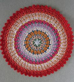 free crochet pattern colorful doily