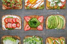 Creamy Strawberry Balsamic    1) Spread the goat cheese on toast. Add sliced avocados, strawberries, and drizzle with balsamic vinegar. Enjoy!