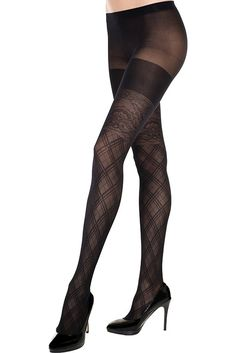 #MusicLegs #StaySexy   https://www.fifty-6.com/en/catalog/clothing/music-legs/hosiery/pantyhose-72 Cod.: ml7293 Pantyhose Spandex sheer pantyhose with argyle and floral design Color: Black Sizes: One Size Material: 100% nylon