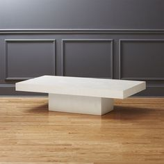 Shop element ivory white rectangular coffee table.   A larger, rectangular take on our element coffee table in ivory.