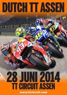 Hieronder het complete tijdschema van de 2014 Dutch TT inclusief MotoGP, Moto2, Moto3, Red Bull Rookies, WK Zijspannen en het ONK Supersport.