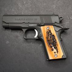 DURAGRIPS Llama Mini Max Minimax Polished Grips Faux Stag | Etsy Weapons Guns, Guns And Ammo, Cowboys Cap, 1911 Grips, Firearms, Shotguns, 45 Acp, Custom Guns, Shotgun
