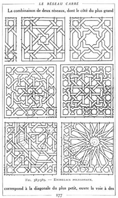 Pour comprendre l'Art Musulman dans l'Afrique du Nord et en Espagne - Page 7 Celtic Patterns, Doodle Patterns, Tile Patterns, Pattern Art, Textures Patterns, Motif Oriental, Oriental Pattern, Islamic Art Pattern, Arabic Pattern