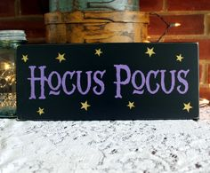 Halloween Sign Hocus Pocus Wood Sign Witch by CountryWorkshop
