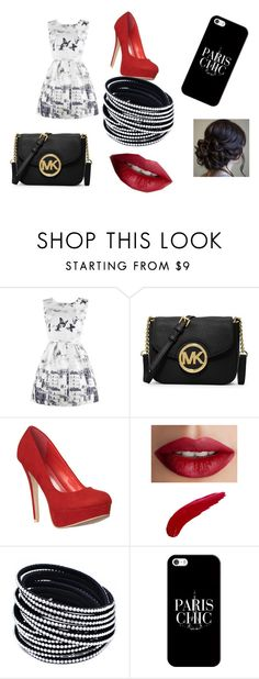"""""""Off To Paris"""" by josslynhair on Polyvore featuring MICHAEL Michael Kors, TheBalm and Casetify"""