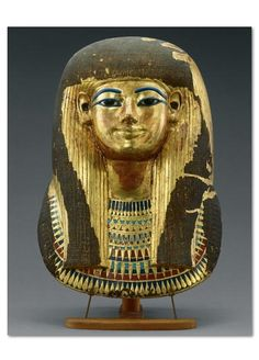 Mummy Mask of Queen Tuyu This gilded-pasteboard mask found in her tomb immortalizes Queen Tuyu, King Tutankhamun's great-grandmother