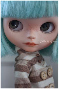 OOAK Custom Blythe doll *CLOE* by Dolls & Sugar #customblythe #blythecustom…